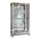 Pulaski Side Entry Curio in Platinum 21384