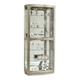 Pulaski Glass Door Curio in Platinum 21396