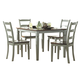 Homelegance Clearwater 5-Piece Counter Height Table Set in Grey 2426