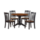 Homelegance Andover 5-Piece Pack Dinette Set Table in Antique Oak and Black 2458