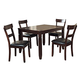 Homelegance Oklahoma 5-Piece Dinette Table Set in Espresso 2469