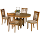 Liberty Furniture Santa Rosa Oval Pedestal Table in Mission Oak Finish 25-T4866