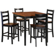 Homelegance Lynn 5-Piece Counter Height Table Set in Black and Oak 2506BK-36