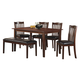 Homelegance Schaffer 6-Piece Dinette Table Set in Warm Cherry 2513