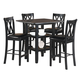 Homelegance Norman 5-Piece Counter Height Table Set in Black 2514BK-36