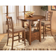 Cross Island 3-pc Counter Height Extension Table Set