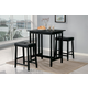 Homelegance Scottsdale 3-Piece Counter Height Table Set in Black 5310BK