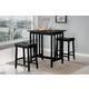 Homelegance Scottsdale 3-Piece Counter Height Table Set in Black 5310BK