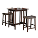 Homelegance Scottsdale 3-Piece Counter Height Table Set in Cherry 5310C