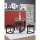Homelegance Chorus 4-Piece Dinette Table Set in Black 3205