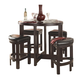 Homelegance Brussel 5-Piece Counter Height Table Set in Cherry 3219PU-36