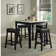 Homelegance Archstone 5-Piece Counter Height Table Set  in Black 3270