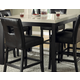 Homelegance Archstone Counter Height Table in Black 3270-36