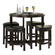 Homelegance Brussel II 5-Piece Counter Height Table Set in Cherry 3292-36