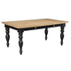 Kincaid Homecoming Solid Wood Farmhouse Leg Table 33-056 in Vintage Pine & Black