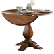 Liberty Furniture Creations II Drop Leaf Pedestal Table in Tobacco Finish 38-T4242