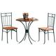 Coaster 3pc Bistro Dining Set in Black 5939