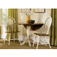 Liberty Furniture Low Country 3pc Drop Leaf Pedestal Table Set in Linen Sand with Suntan Bronze Finish 79-TW