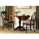 Liberty Furniture Low Country 3pc Drop Leaf Pedestal Table Set in Anchor Black with Suntan Bronze Finish 80-TN
