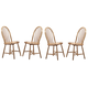 Coaster Side Chair in Natural Finish (Set of 4) 4127