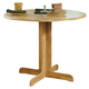 Coaster Round Drop Leaf Dining Table in Natural Finish 4137