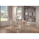 Coaster 5pc Dining Set in White and Natural Finish 4147S