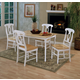 Coaster 5pc Dining Set in White and Natural Finish 4147-4117
