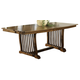 Somerton Craftsman Rectangular Dining Table in Brown