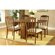 Somerton Craftsman 5pc Gate Leg Table Set in Brown 417DR