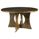 Somerton Manhattan Pedestal Dining Table in Brown 419-61
