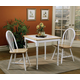 Coaster 5pc Dining Set in White and Natural Finish 4191S