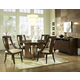 Somerton Manhattan 5pc Casual Dining Room Set in Brown 419DR