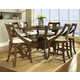 Somerton Gatsby 7pc Square Bar Table Set in Brown 422DR