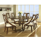 Somerton Gatsby 7pc Casual Dining Room Set in Brown 422DR