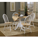 Coaster 5pc Dining Set in White and Natural Finish 4241S