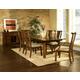 Somerton Dakota 7pc Formal Dining Room Set in Brown 425DR