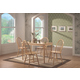 Coaster 5pc Dining Set in Natural Finish 4347S