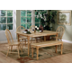 Coaster 6pc Dining Set in Natural Finish 4361S