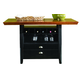 Liberty Furniture 47 Pub Center Island Table in Rubbed Black & Cherry Finish 47-GT3660