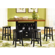 Liberty Furniture 47 Pub 5pc Casual Dining Room in Rubbed Black & Cherry Finish 47-PUB