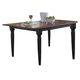 Liberty Furniture Creations II Butterfly Leaf Table in Black and Tabacco 48-T300