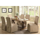 Coaster Parkins 5 Piece Dining Set w/ Skirted Parson Chair in Coffee