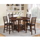 Acme Theodora 5-pc Drop Leaf Counter Height Dining Table Set in Walnut