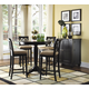 American Drew Camden 5-Pc Bar Height Round Dining Set in Black