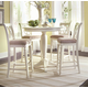 American Drew Camden 5-Pc Bar Height Round Dining Set in White