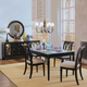 American Drew Camden 5-Pc Leg Dining Set in Black