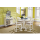 American Drew Camden 5-Pc Counter Height Round Dining Set in White