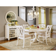 American Drew Camden 5-Pc Round Table Dining Set in White