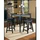 Homelegance Saddleback 5-Piece Counter Height Table Set in Black Sand 5302BK