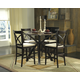 Homelegance Cantor  5-Piece Counter Height Table Set in Warm Cherry 5380-36